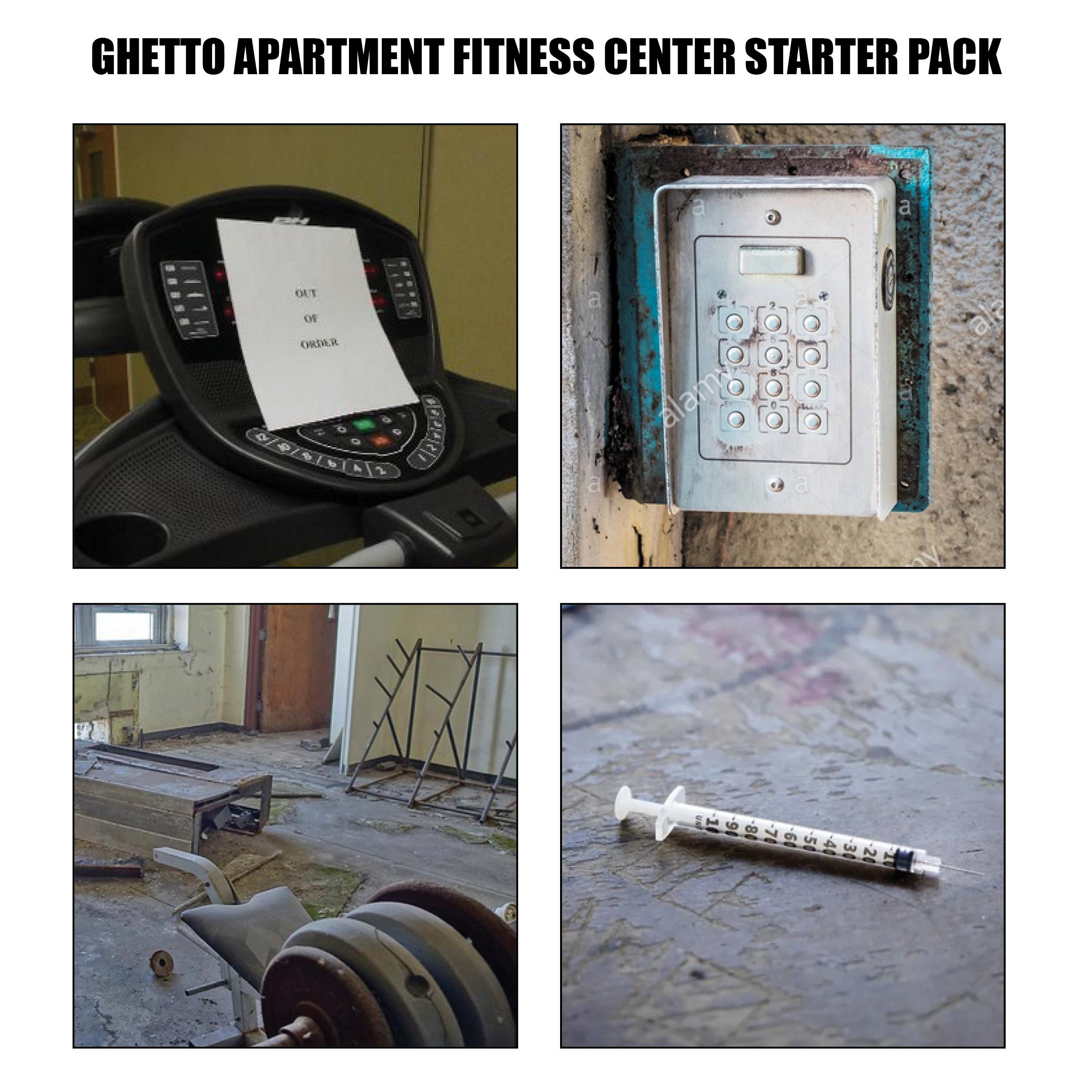 Ghetto Apartment Fitness Center Starter