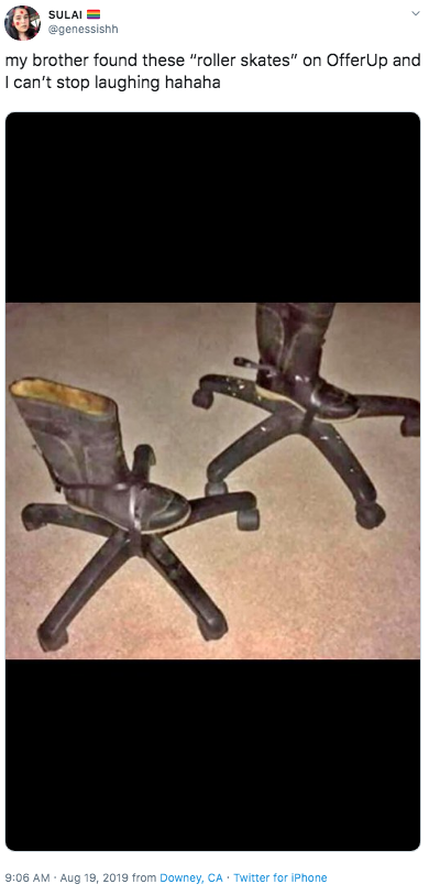 Strange My Brother Found These Roller Skates On Offerup And I Can Short Links Chair Design For Home Short Linksinfo