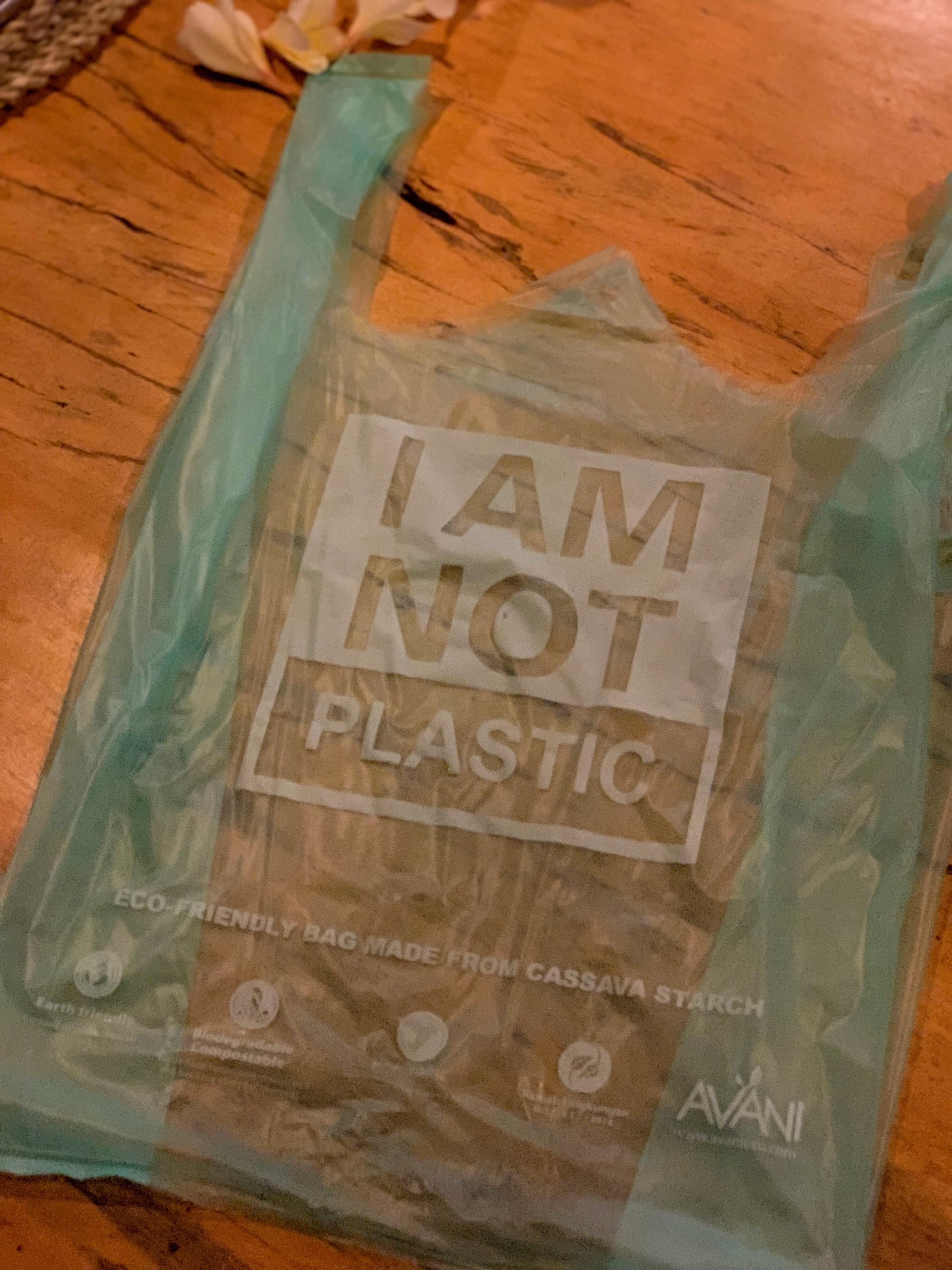 I Am Not Plastic - cassava starch bags that returns to