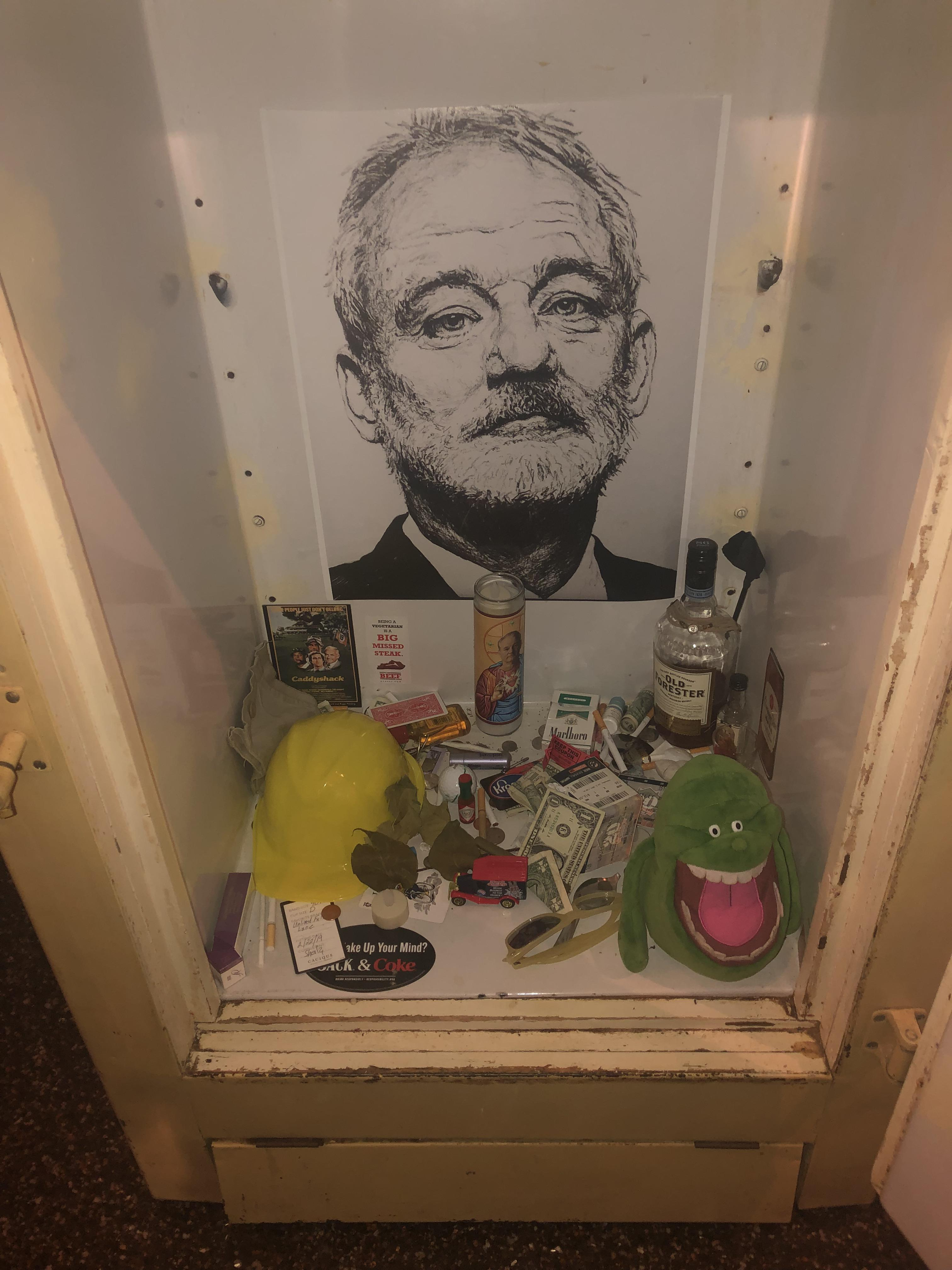 The Bar I Went To Last Night Had A Shrine To Bill Murray R