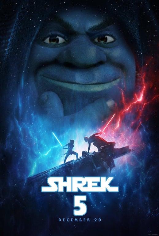Shrek 5 Star Wars The Rise Of Skywalker Poster Parodies Know Your Meme