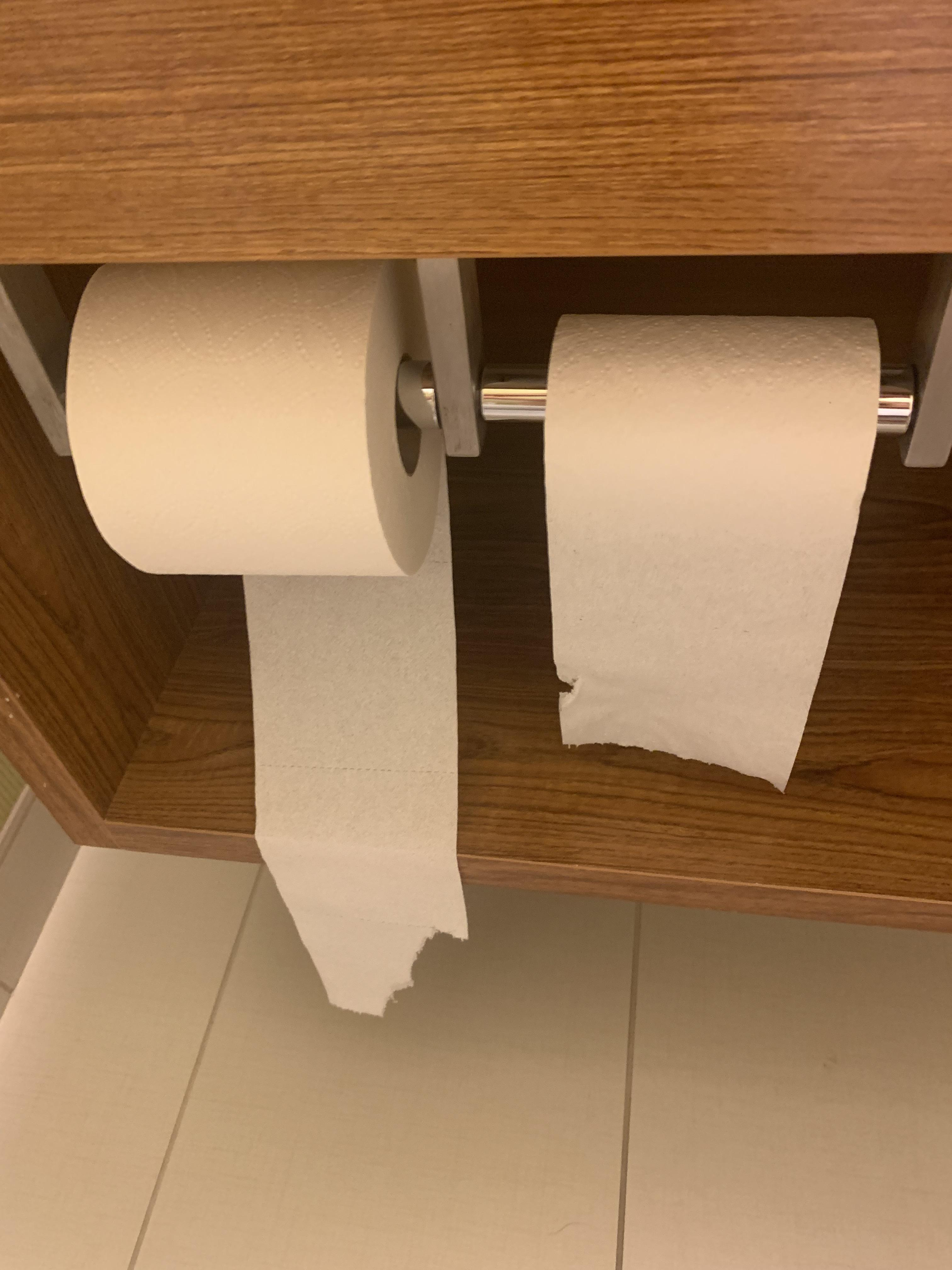 This Hotel Bathroom Toilet Paper Roll