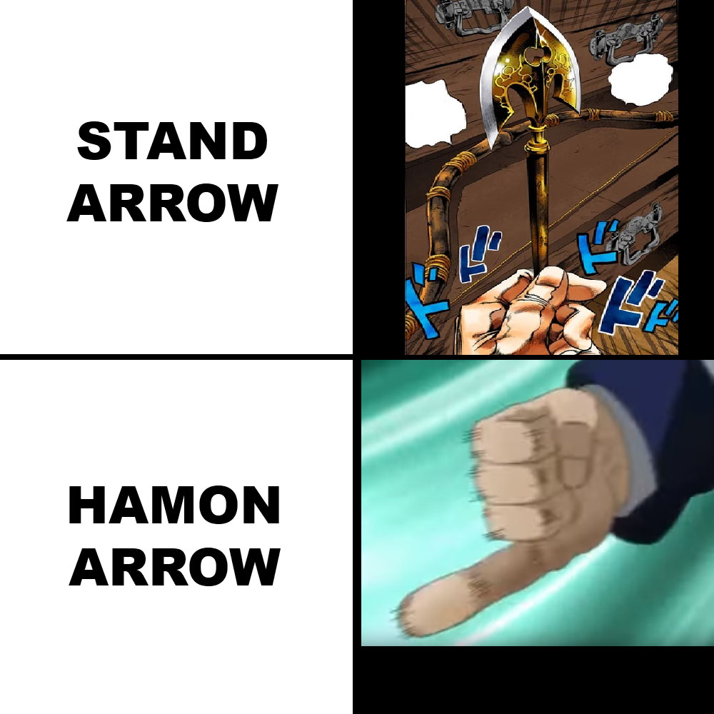 If You Re Unworthy You Just Get Stomach Ache Instead Of Dying Jojo S Bizarre Adventure Know Your Meme The stand arrows don't actually have to be arrows to affect people. stomach ache instead of dying