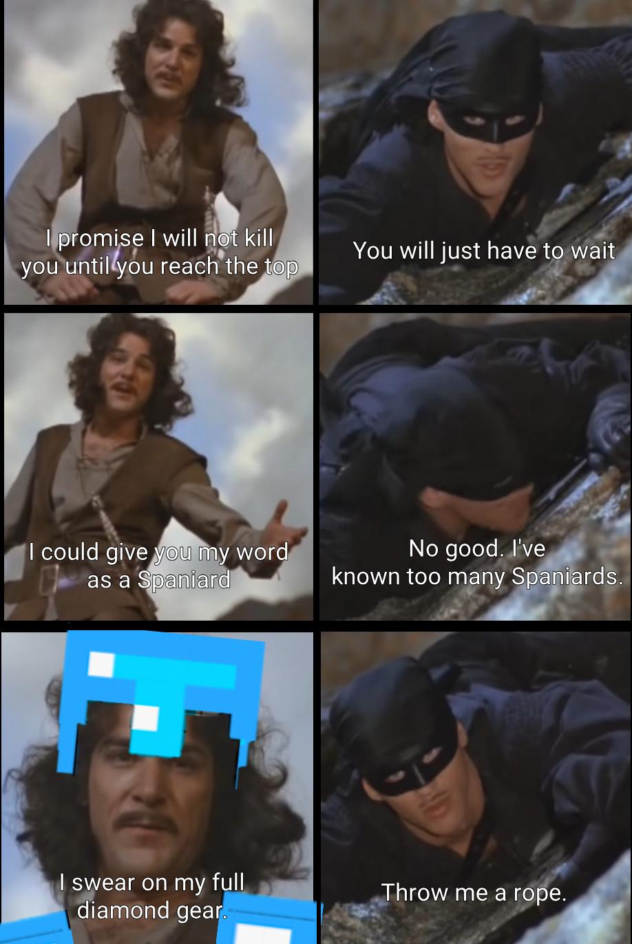 Full Enchant R Minecraftmemes The Princess Bride Know Your Meme