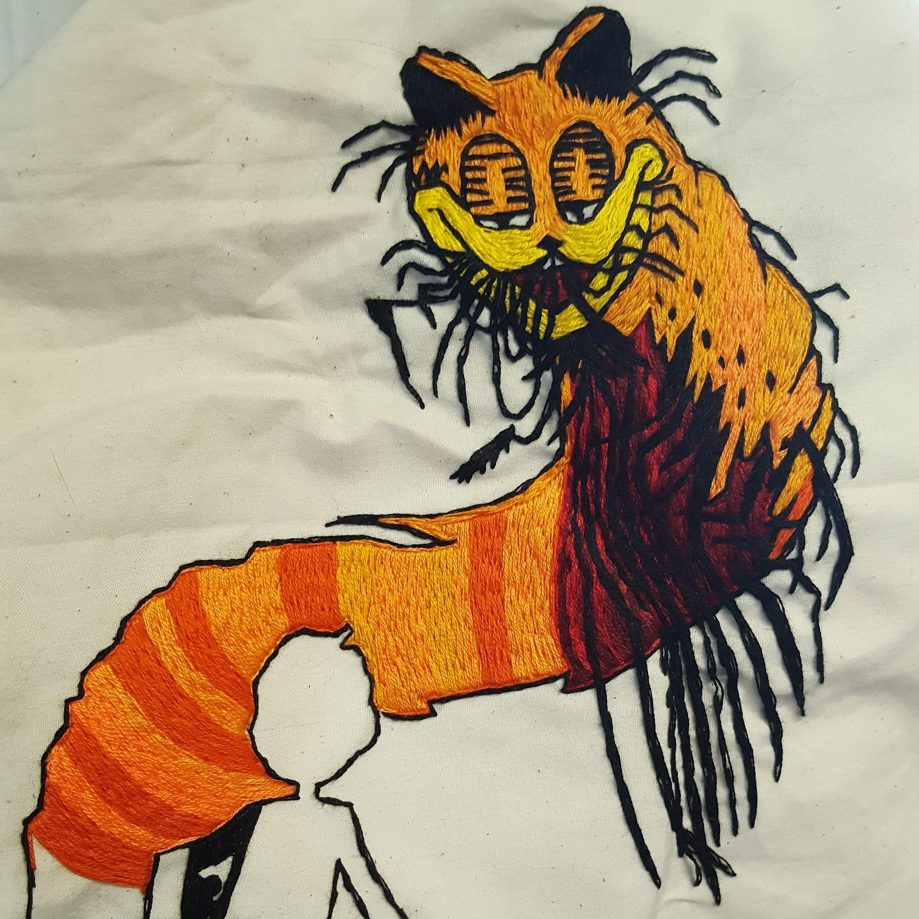 Day 4 Progress He Is Becoming R Imsorryjon Creepy Garfield Know Your Meme