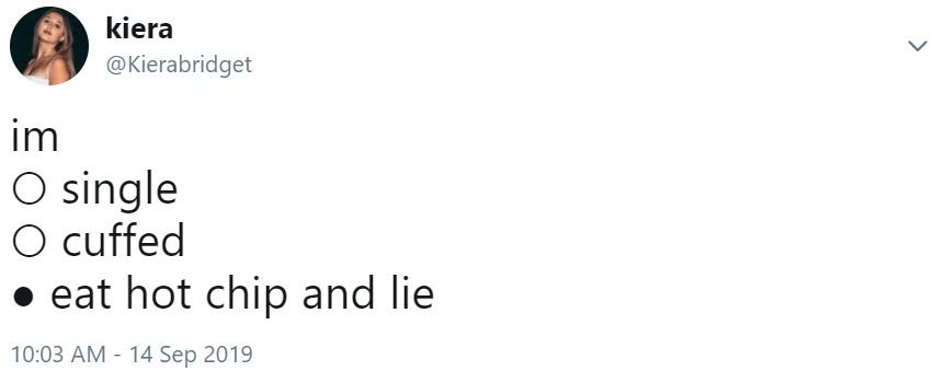 Kierabridget S Tweet Eat Hot Chip And Lie Know Your Meme Eat hot chip & lie (i.redd.it). eat hot chip and lie