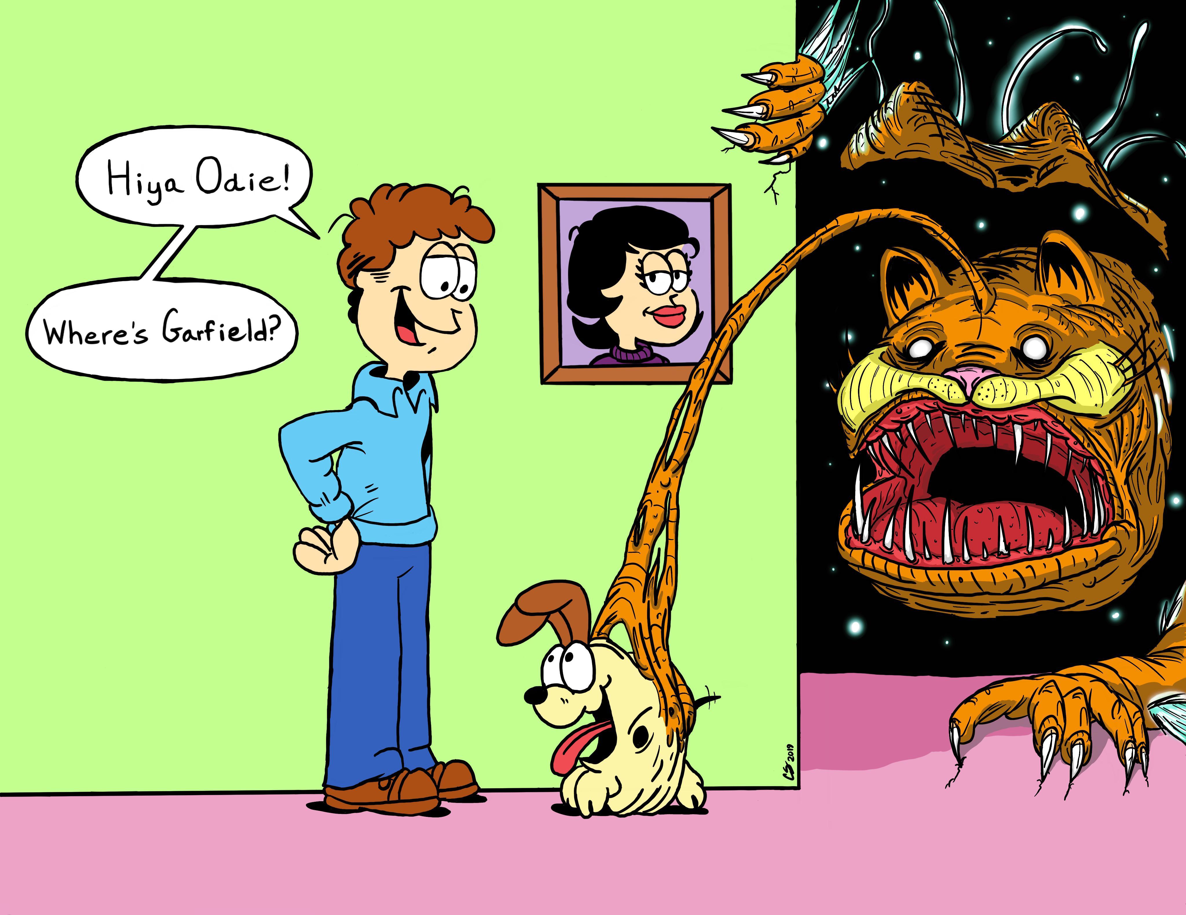 You Re Not Very Perceptive Jon Recreation R Imsorryjon Creepy Garfield Know Your Meme