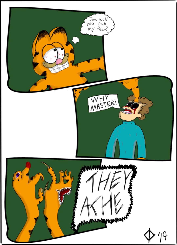 Please Jon R Imsorryjon Creepy Garfield Know Your Meme