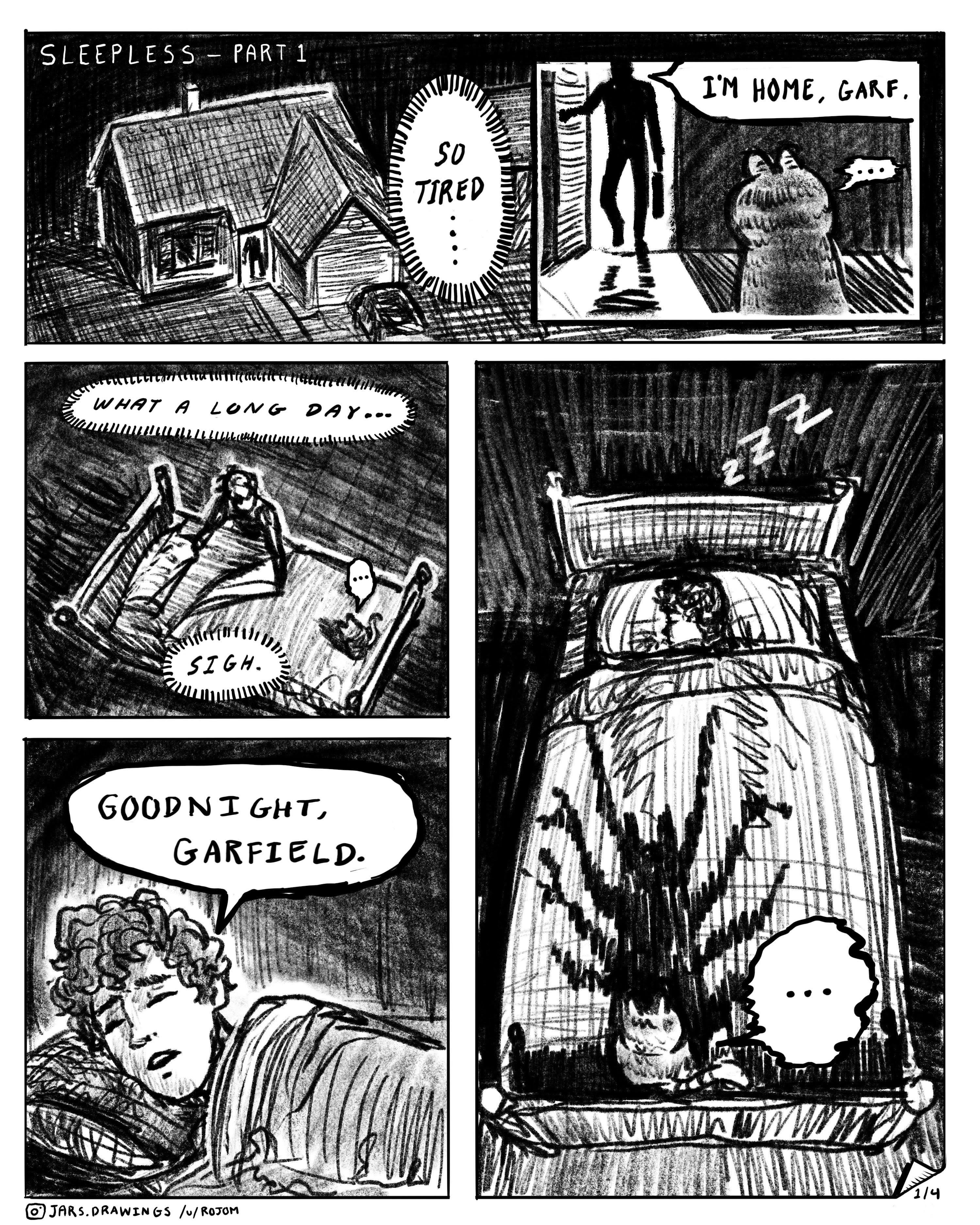 Sleepless Part 1 R Imsorryjon Creepy Garfield Know Your Meme
