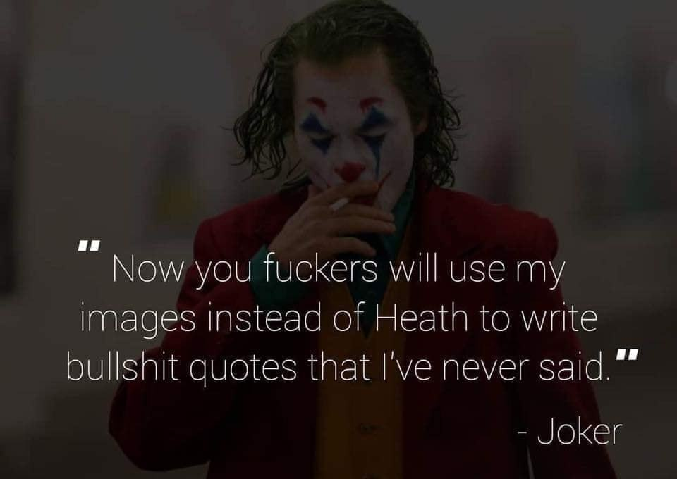 we all knew joker film know your meme