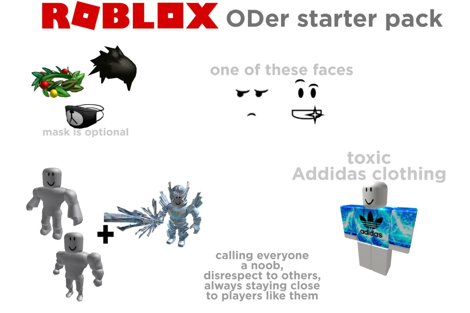 Roblox Oder Starter Pack R Starterpacks Starter Packs Know