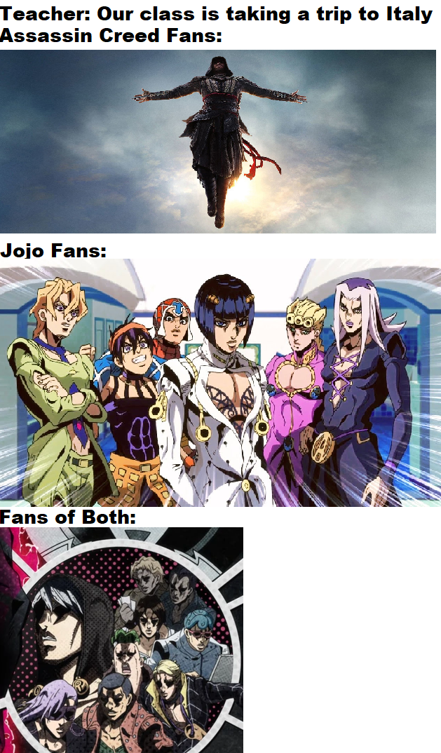 Not A Boys Vs Girls Meme R Shitpostcrusaders Jojo S Bizarre