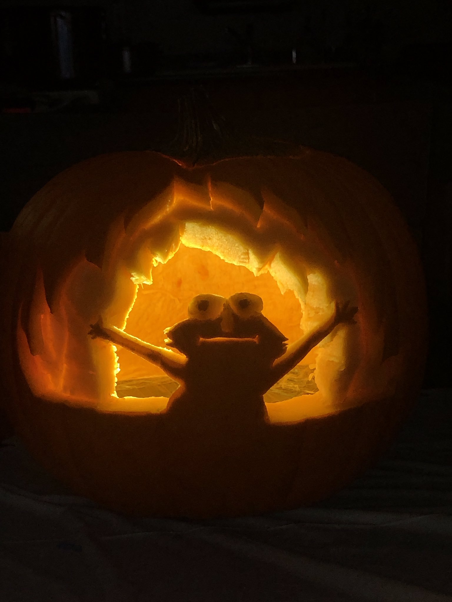 Elmo On Fire Pumpkin Carving Art Know Your Meme