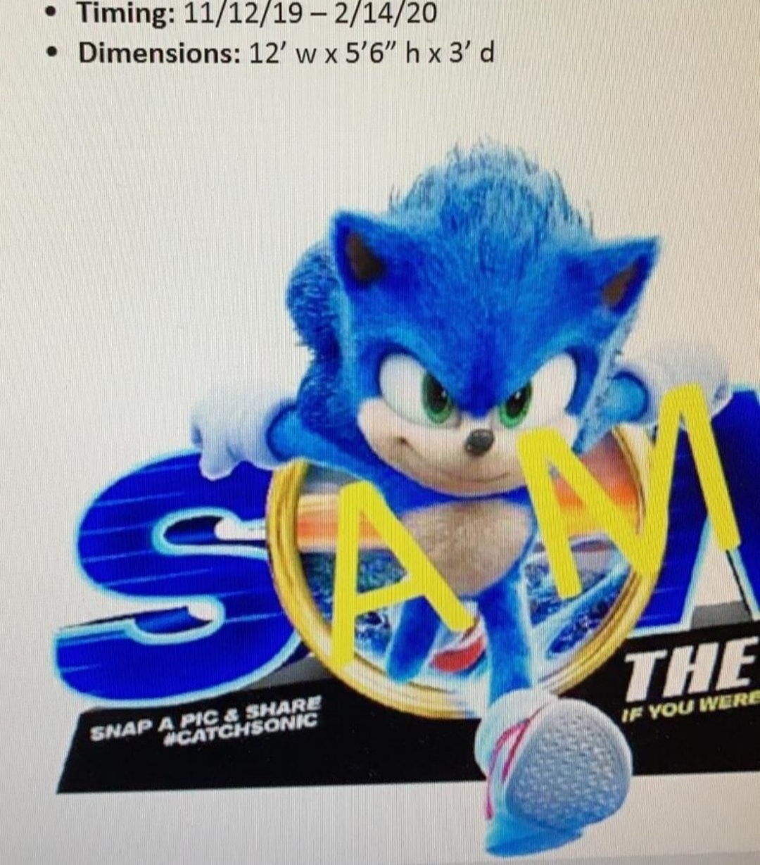 Yet Another Sonic Movie Redesign Leak Sonic The Hedgehog 2020
