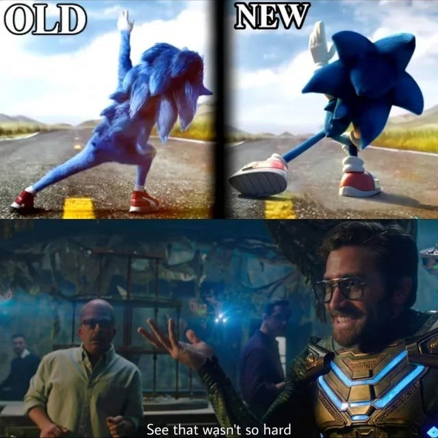 Huge Improvement Sonic The Hedgehog 2020 Film Know Your Meme