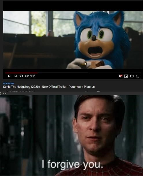 They Earned Our Forgiveness Sonic The Hedgehog 2020 Film Know Your Meme