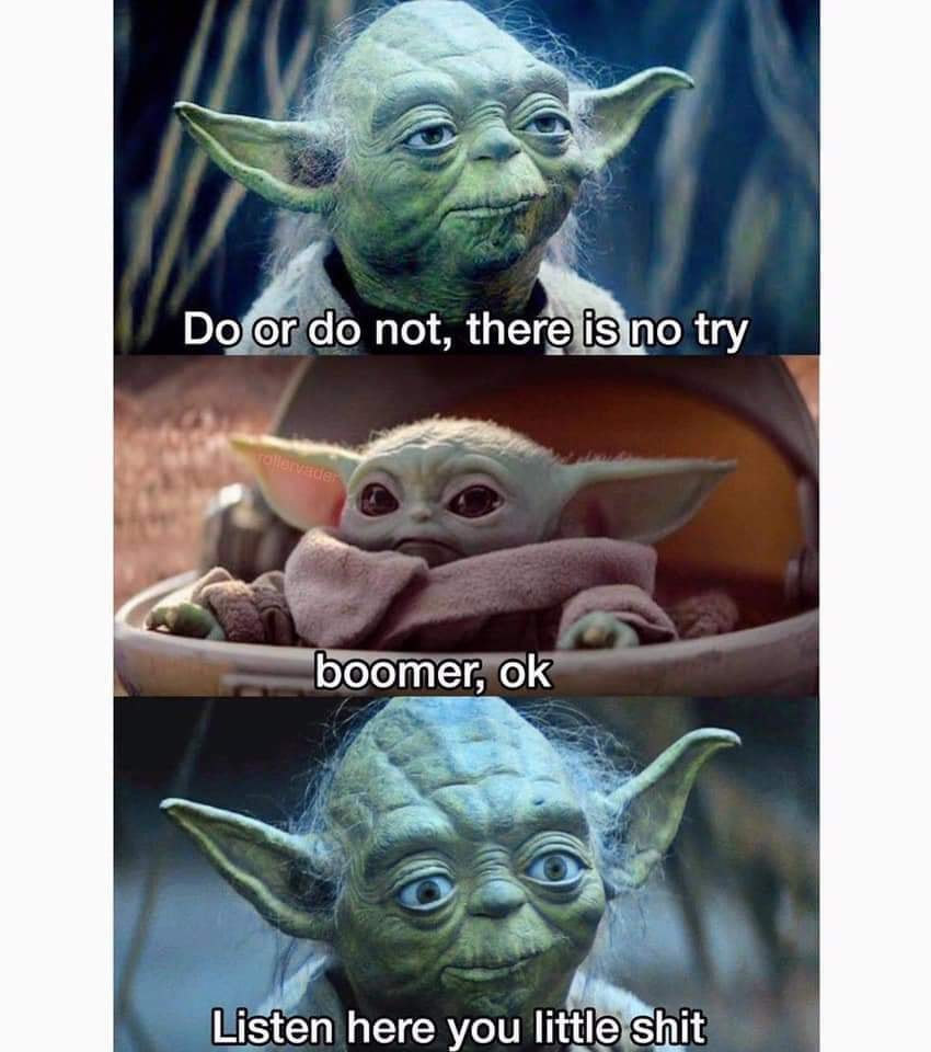 Yoda is a boomer | Baby Yoda / Yiddle | Know Your Meme