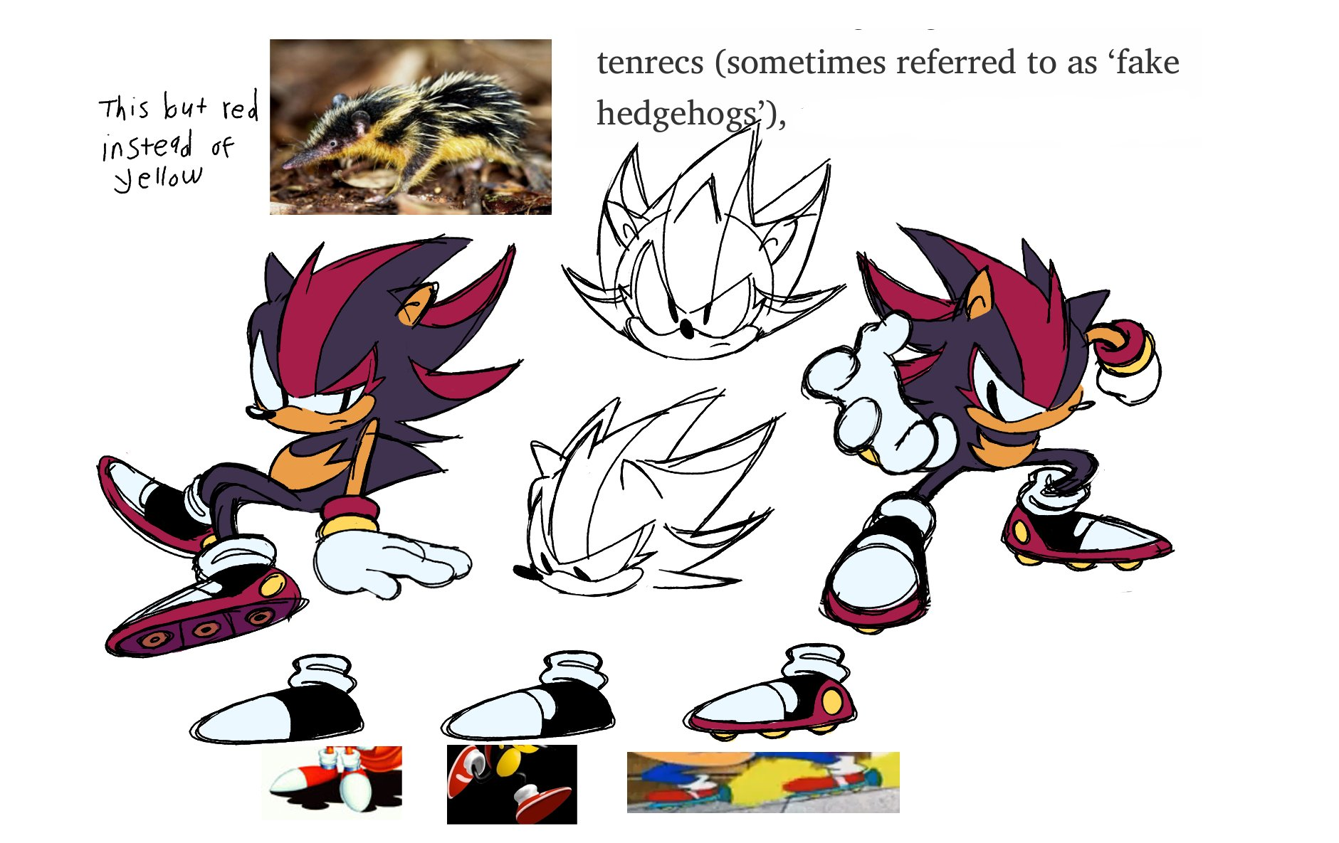 Classic Shadow Redesign O Sonic The Hedgehog Know Your Meme