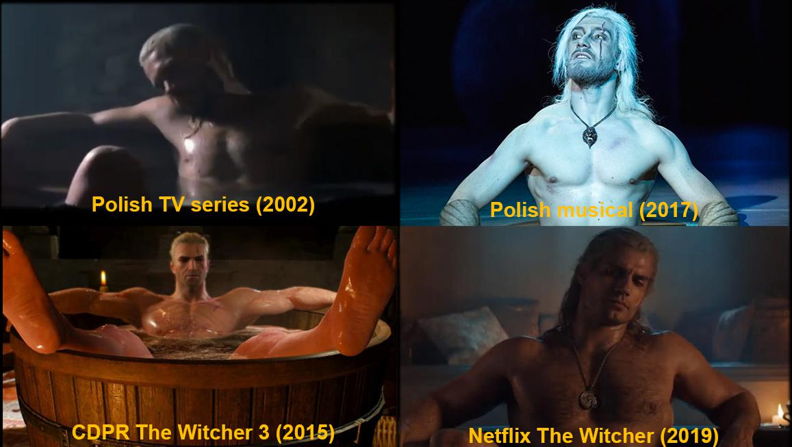 Bathtub Scene In Various Adaptations Geralt In A Bathtub