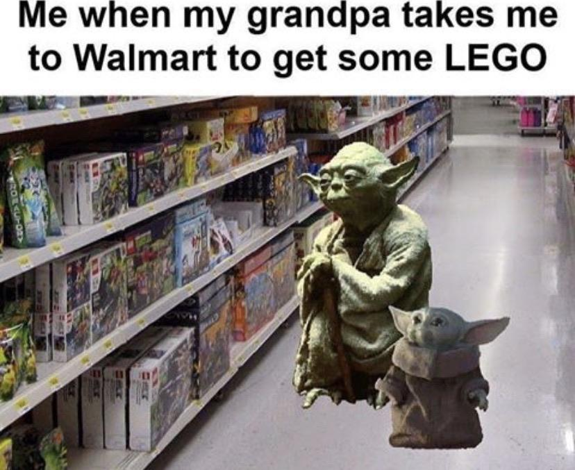 Me And My Grandpa Getting Me Some Lego R Babyyoda Baby Yoda
