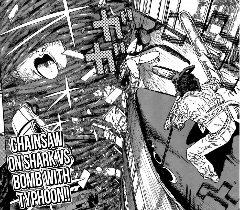 CHAINSAW ON SHARK VS BOMB ON TYPHOON | Chainsaw Man | Know Your Meme