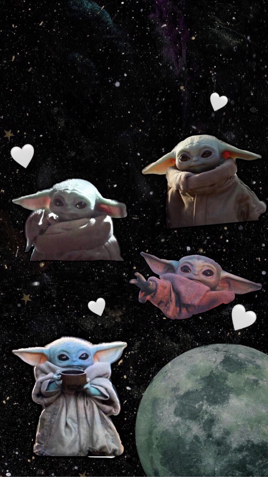 Made A Baby Yoda Lockscreen Wallpaper R Babyyoda Baby Yoda