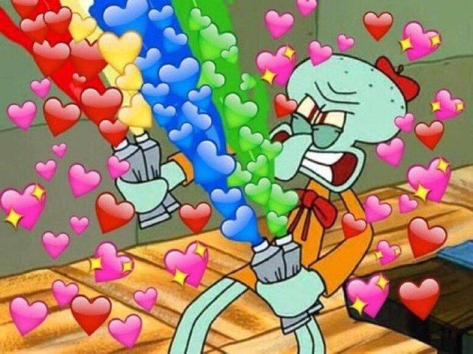 Artist Squidward Heart Emoji Memes Know Your Meme Make your heart emoji meme here: artist squidward heart emoji memes