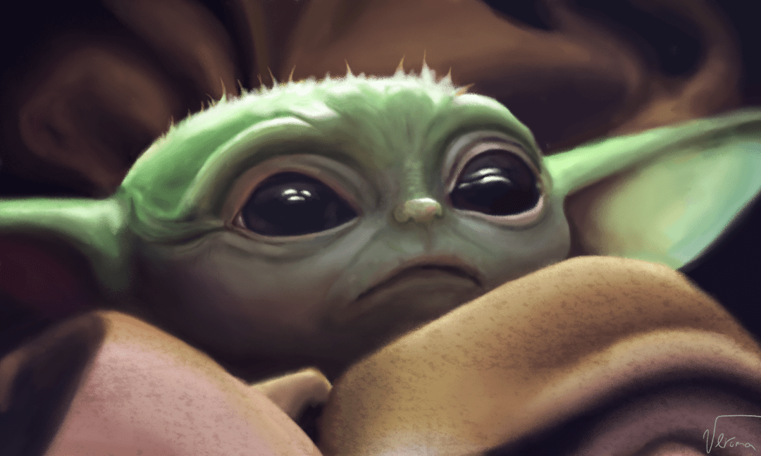 Digital Painting I Finished Today R Babyyoda Baby Yoda Grogu Know Your Meme