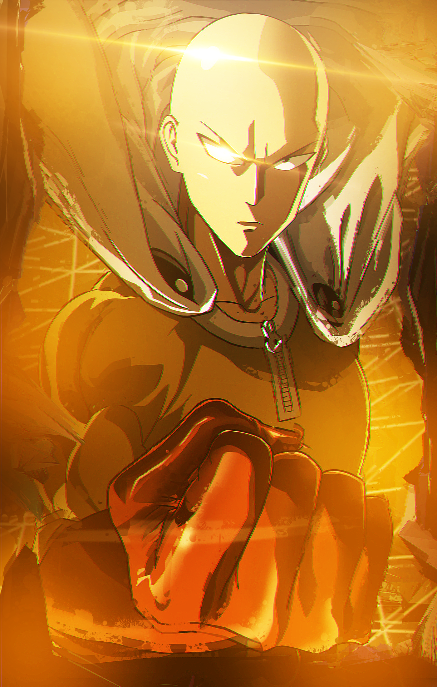 I Made A Saitama Wallpaper For Mobile R Onepunchman One Punch