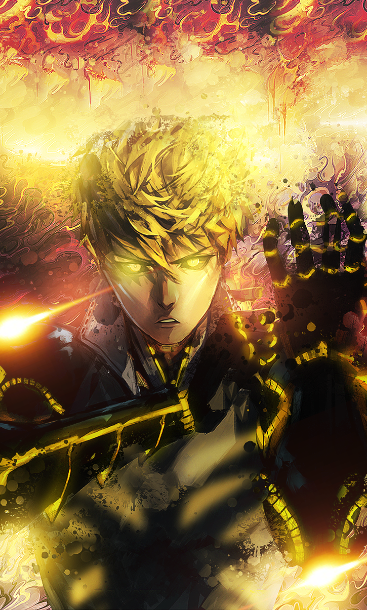 I Made A Genos Wallpaper For Mobile R Onepunchman One Punch