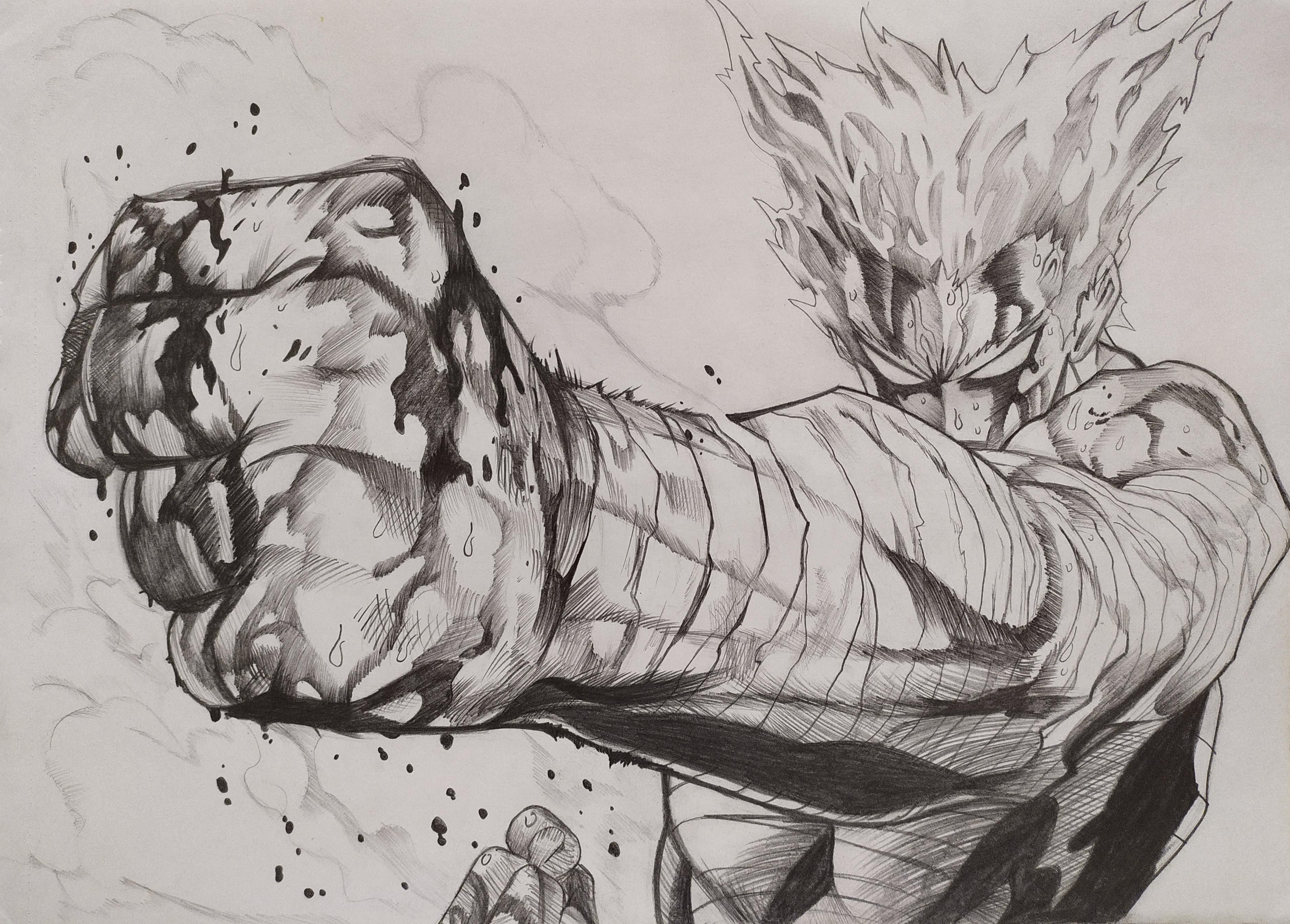 Drawing Of Garou R Onepunchman One Punch Man Know Your Meme