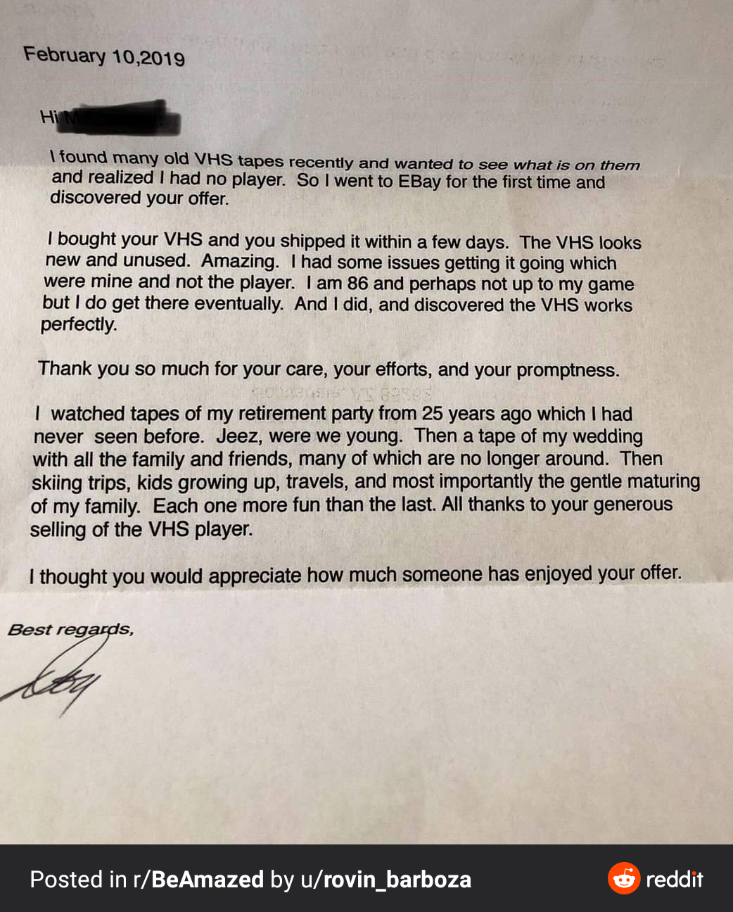 A Letter Sent To A Seller From A Buyer On Ebay R Wholesomememes Wholesome Memes Know Your Meme