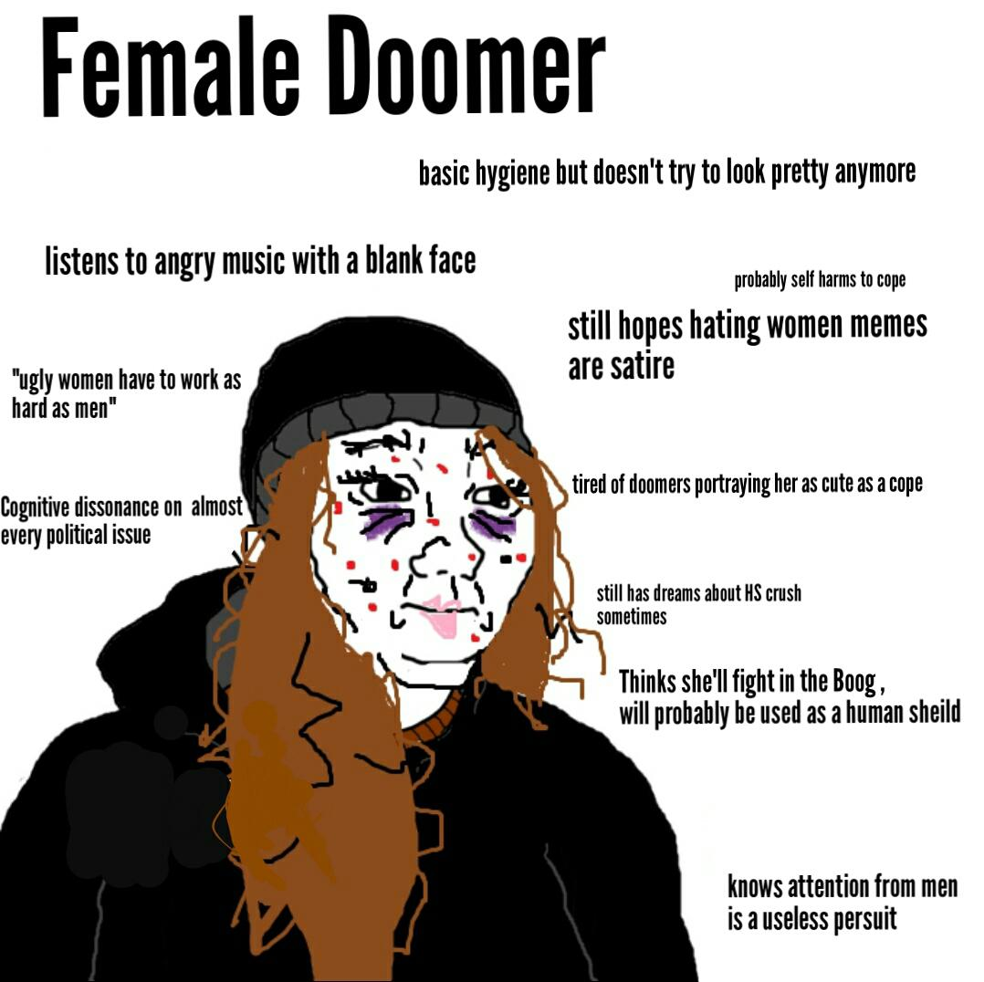Your Fantasy Female Doomer Is A Cope R Doomers Doomer Know