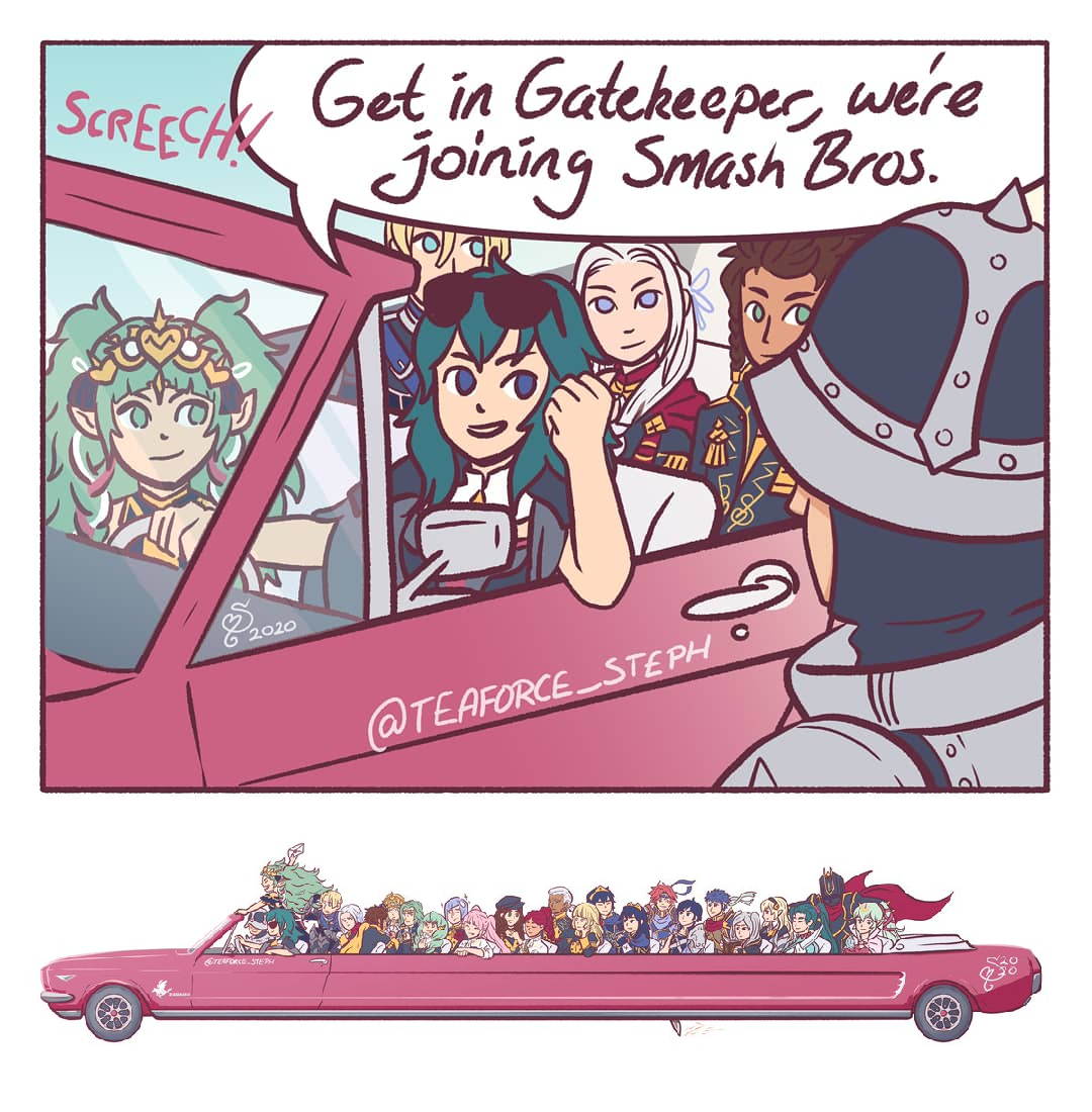 Byleth And The Squad Rock Up To Ssbu In This Monstrosity While Blasting Vengabus Byleth S Smash Dlc Announcement Know Your Meme