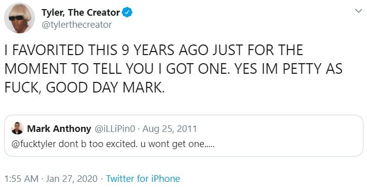 Tyler The Creator On Igor Winning Album Of The Year Tyler The Creator Know Your Meme