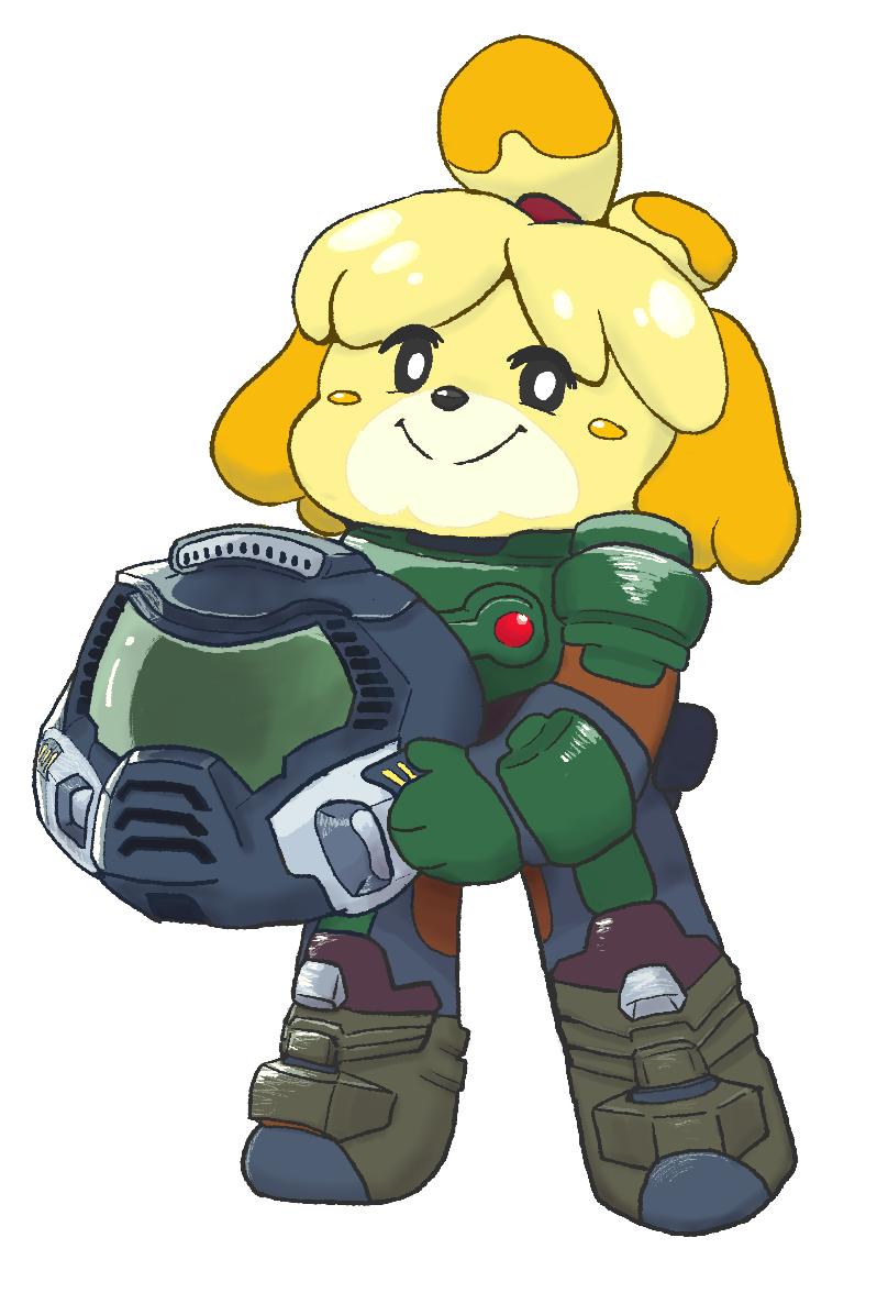 Isabelle Is Doomguy By Nyanpizza Doomguy And Isabelle Know Your Meme