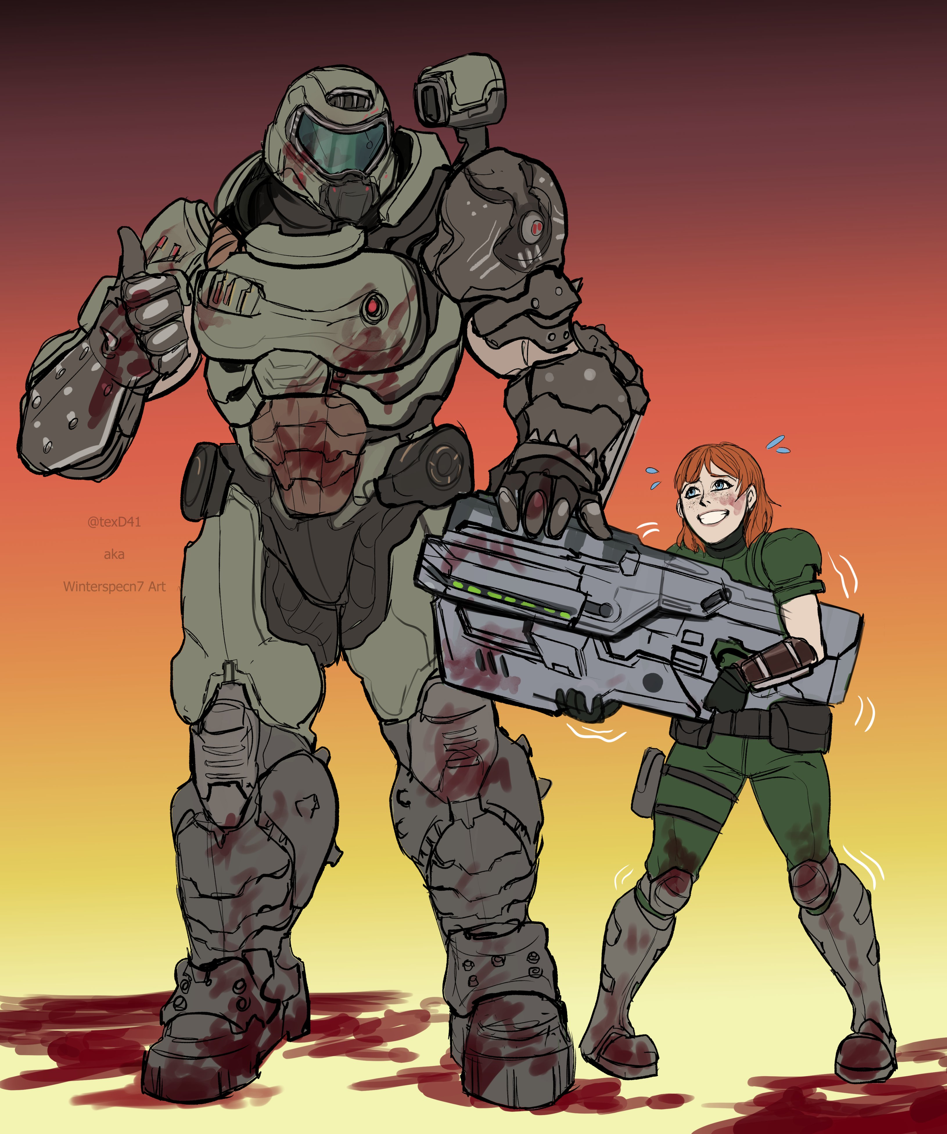 New Recruit By Texd41 Doomguy And Isabelle Know Your Meme