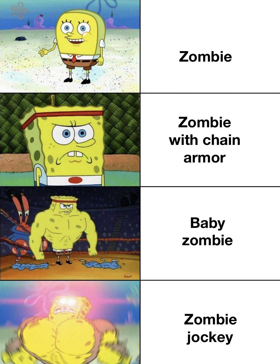 Baby Zombies Op R Minecraftmemes Minecraft Know Your Meme