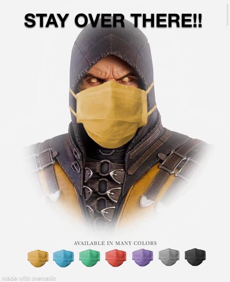 Face Mask In Many Colors Mortal Kombat Know Your Meme