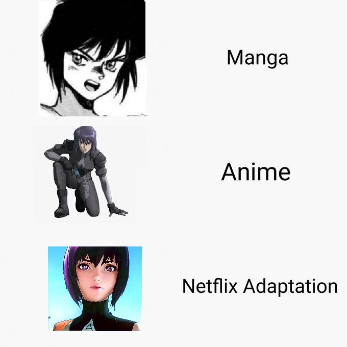Ghost In The Shell Netflix Adaptation Know Your Meme