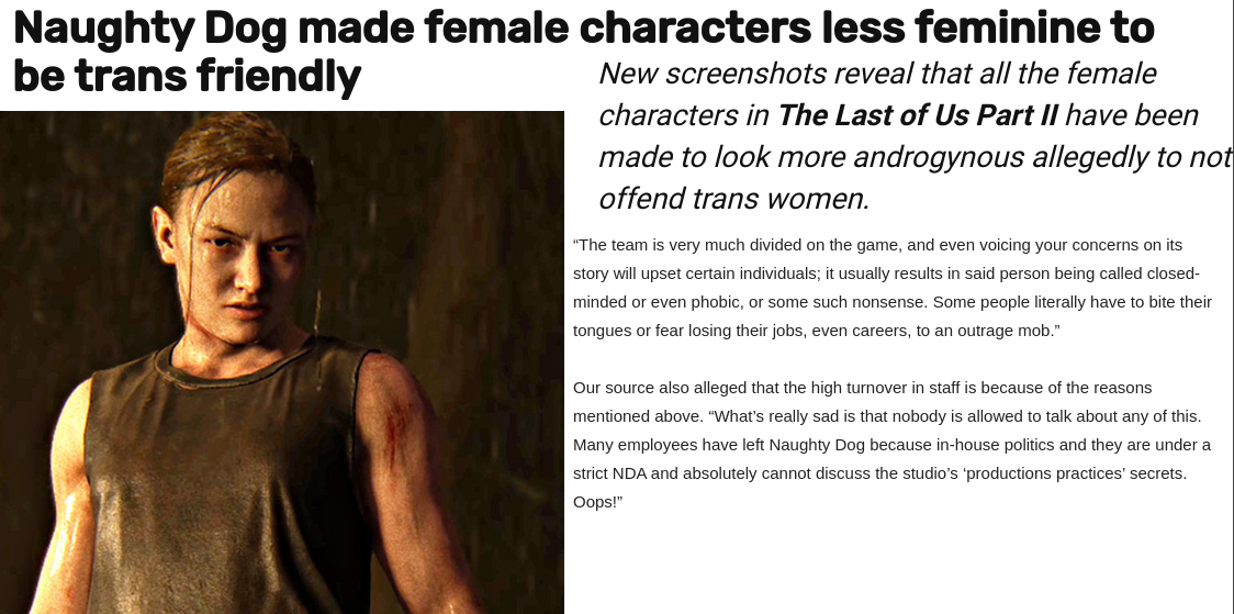 Trans Friendly The Last Of Us Part Ii