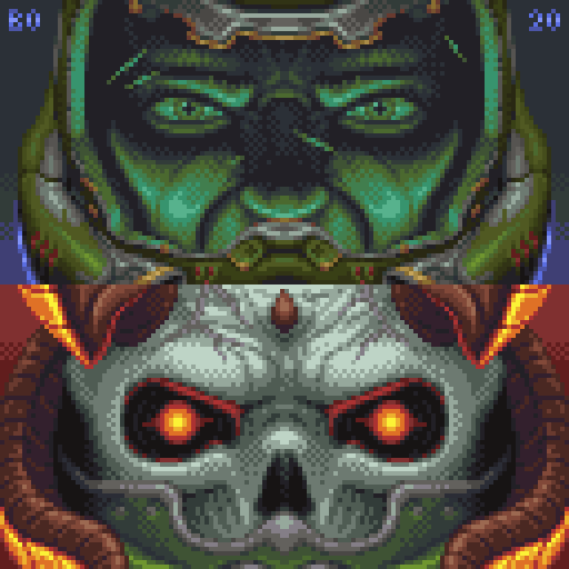 doom slayer face fanart