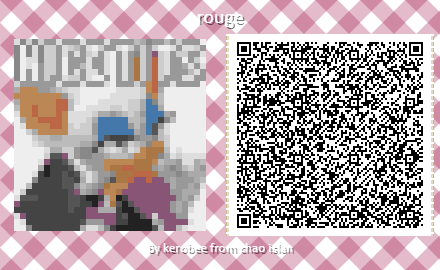 Animal Crossing New Horizons Qr Code Of Rouge The Bat Saying Nice Tits Nice Cock Cock Rating Know Your Meme