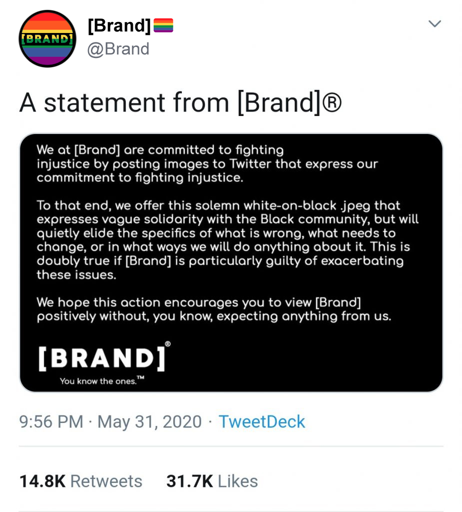 A statement from Brand  2020 George Floyd Protests  Know Your Meme