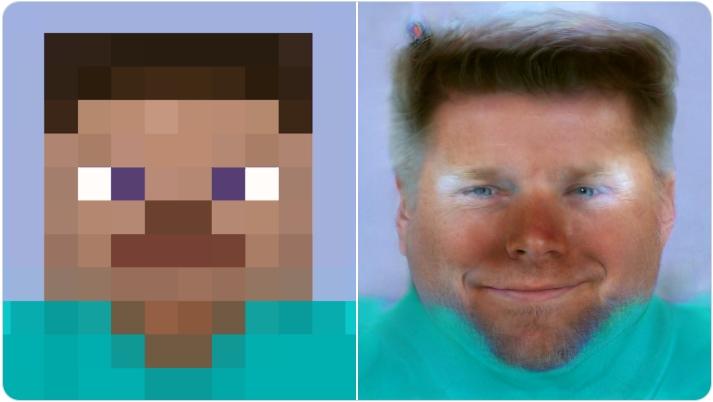 Face Depixelizer Minecraft Steve Face Depixelizer Know Your Meme