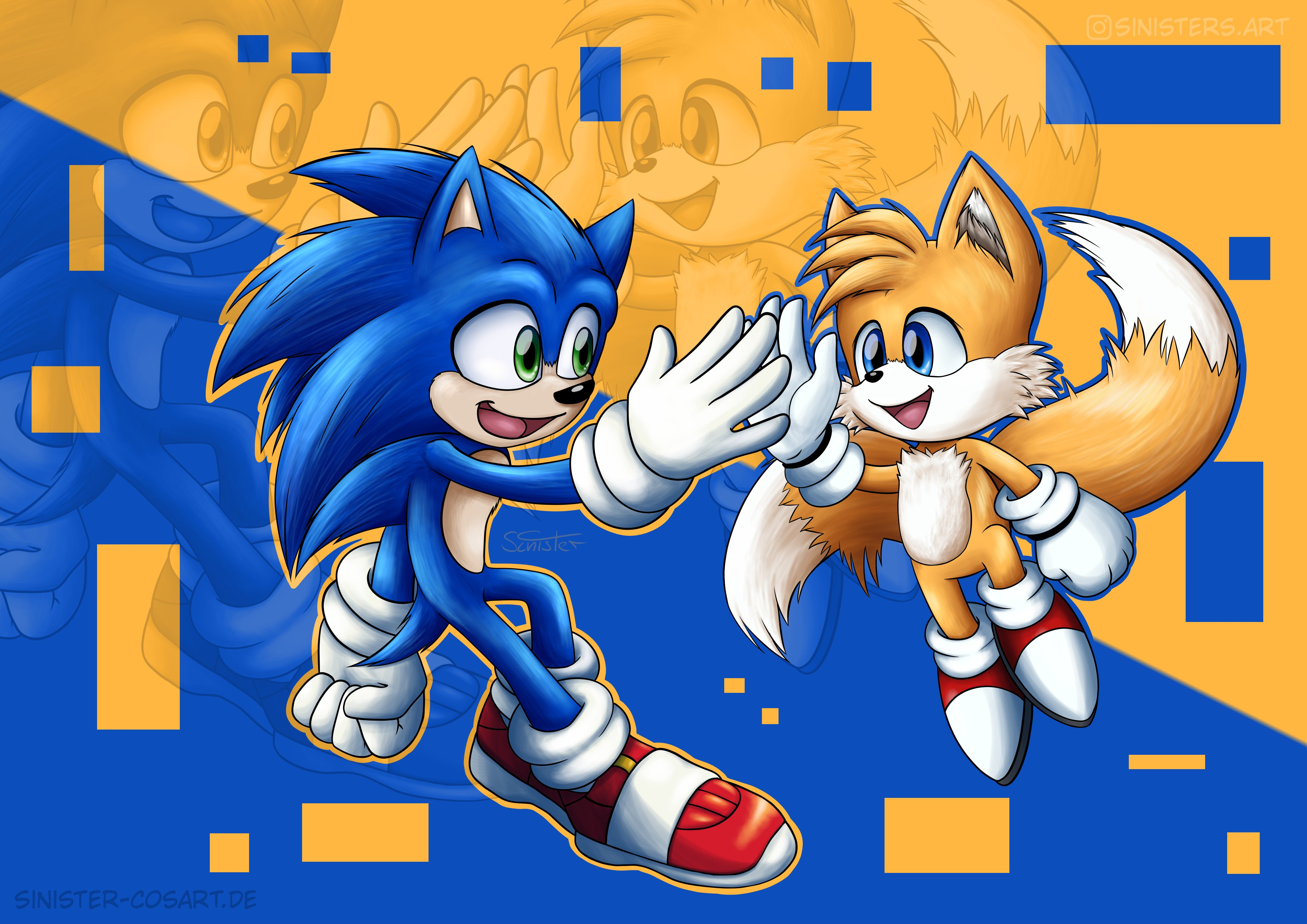 Sonic And Tails Sonic The Hedgehog 2020 Film Know Your Meme