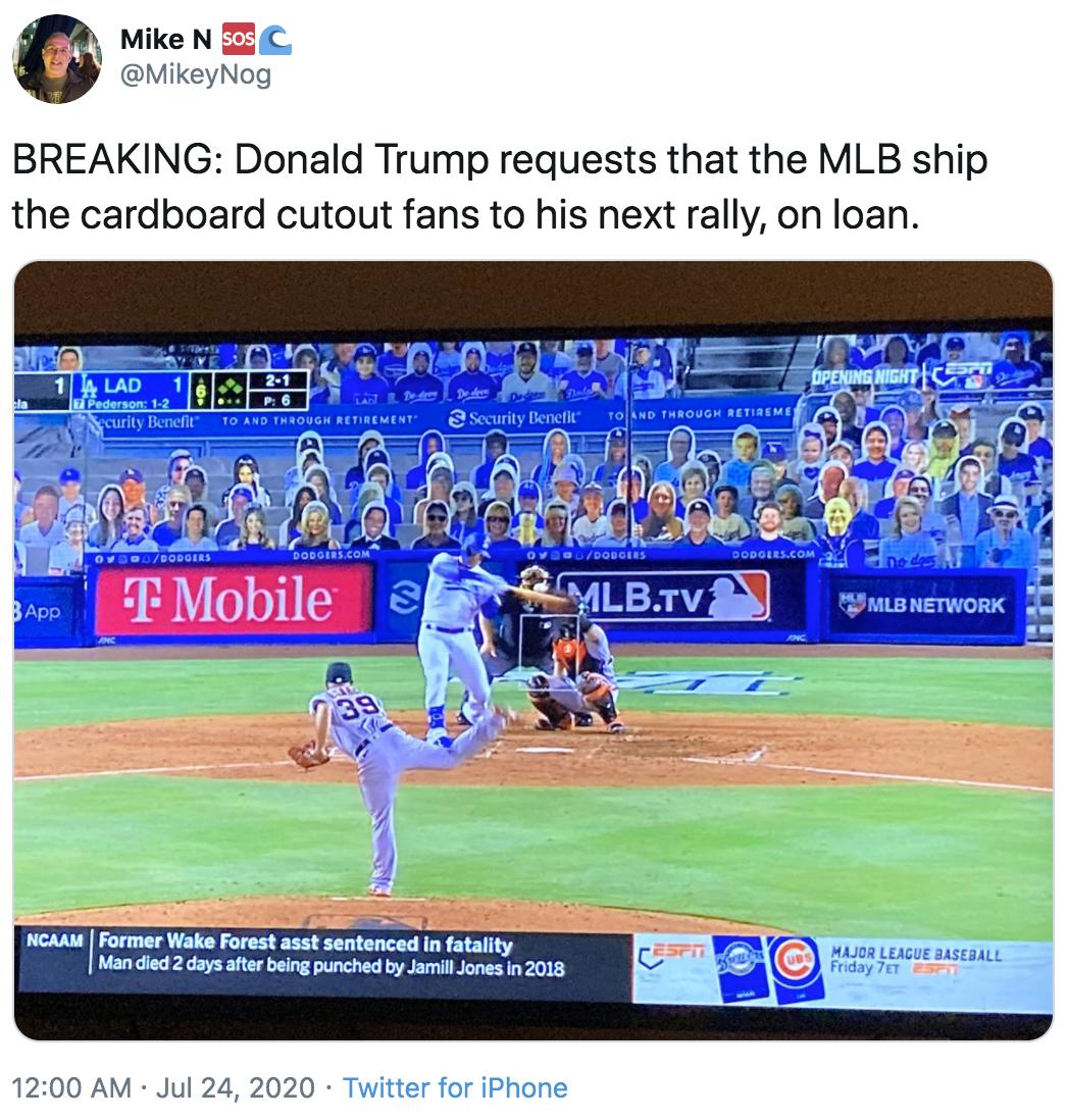 Trump Rally Mlb Cardboard Cutout Fans Know Your Meme