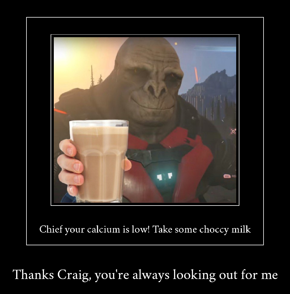 Take some choccy milk | Craig the Halo Infinite Brute | Know Your Meme