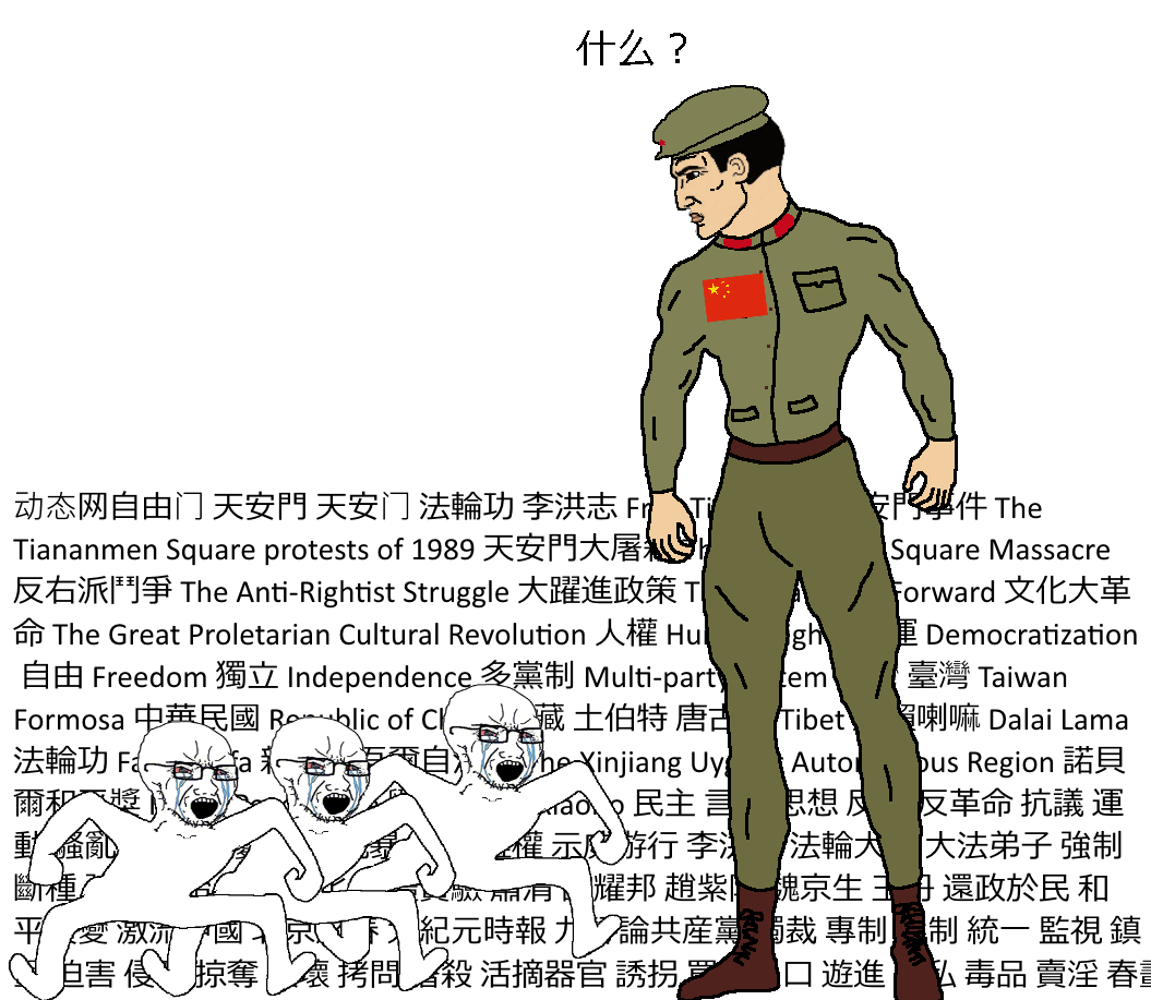 That Chinese Copypasta Soy Boy Face Soyjak Know Your Meme Posted by u/deleted 1 year ago. that chinese copypasta soy boy face