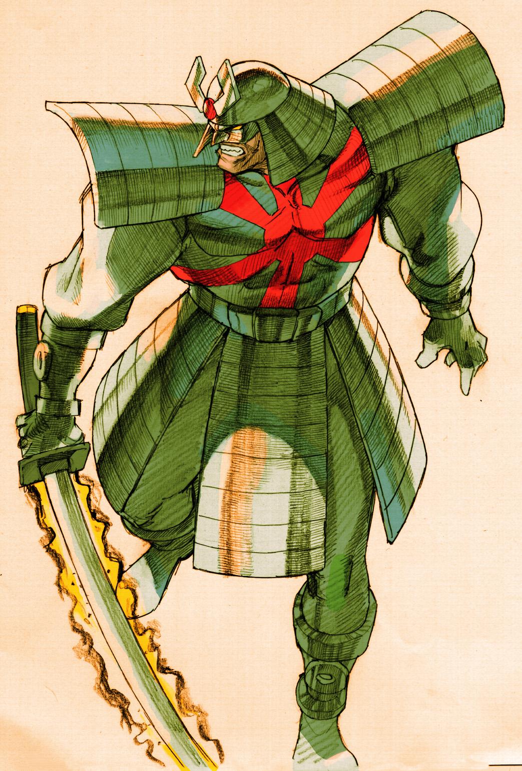 Marvel Vs Capcom 2 Silver Samurai Character Art Marvel Vs Capcom Know Your Meme